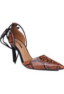 Sapato Scarpin Aberto Zariff Com Amarração