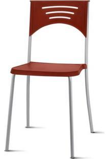 Cadeira Bliss Assento Vermelho Base Cinza - 53715 - Sun House