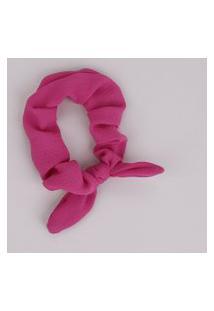 Elástico De Cabelo Scrunchie Com Laço Pink
