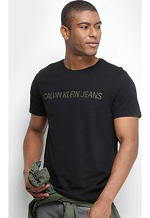 Camiseta Calvin Klein Masculina - Masculino-Preto