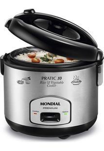 Panela Elétrica Mondial Pratic Rice & Vegetables Cooker Pe-01 Panela Eletrica Arroz-220V-Preto/Inox