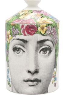 Fornasetti Vela Perfurmada De Cerâmica Com Estampa - Rosa