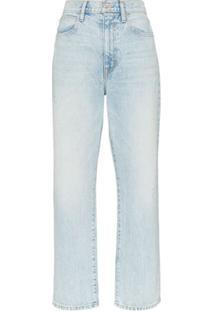 Slvrlake Calça Jeans Reta 'London' - Azul