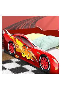 Cama Carro 96 Solteiro - Vermelho / Vermelho - Rpm Móveis