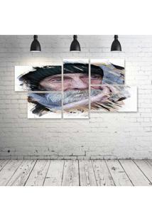 Quadro Decorativo - Portrait434 - Composto De 5 Quadros