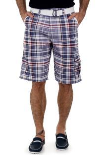 Bermuda Sarja Com Cinto Masculina Code Blue - Color