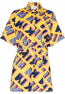 Kirin Chemise De Jacquard Com Estampa De Logo - Amarelo