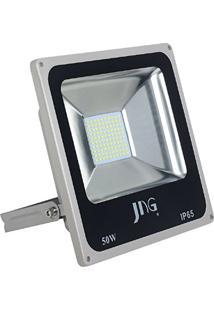 Refletor Led Preto 50W 6500K Fl02