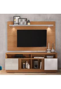 Rack Com Painel Para Tv Até 65 Polegadas Itapuã Marrom E Off White 180 Cm