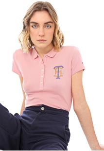 Camisa Polo Tommy Hilfiger Kristal Rosa