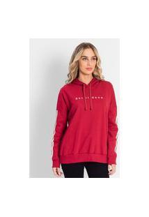 Blusão Feminino Plus Size De Moletom Rovitex Plus Vermelho