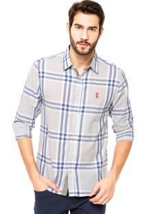 Camisa Sergio K Xadrez Azul