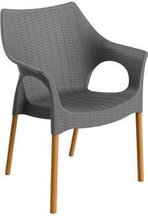 Cadeira Relic Com Braço Konkret E Madeira