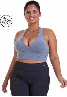 Top Best Fit Plus Size Supplex Basico Cinza