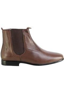 Bota Hb Agabe Boots Social Masculina - Masculino-Café
