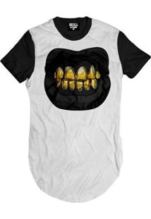 Camiseta Longline Tooth Gold Masculina - Masculino