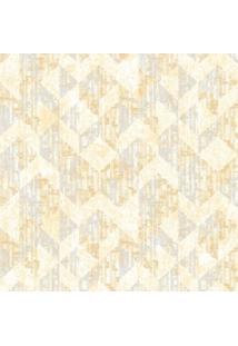 Papel De Parede Castelani Geométrico- Amarelo Claro & Ciedantex