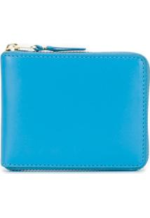 Comme Des Garçons Wallet Carteira De Couro 'Colour Line' - Azul