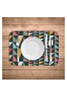 Jogo Americano Wevans Geometric Colors Kit Com 2 Pçs