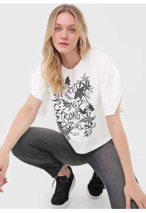 Camiseta Forum Estampada Branca - Branco - Feminino - Algodã£O - Dafiti