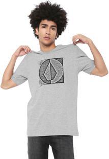 Camiseta Volcom Silk Spamp Divide Cinza