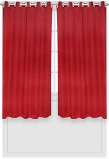 Cortina Santista Versalhes Lisa 180X280 Carmim Vermelha