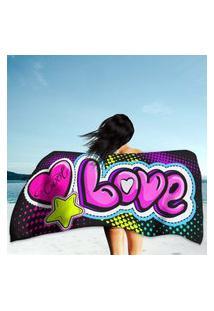 Toalha De Praia / Banho Love Único