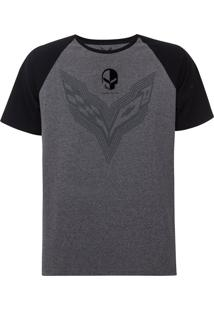 Camiseta Masculina Raglan Mixed Flame Corvette Incolor