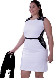 Vestido Vickttoria Vick Bicolor Alfa Plus Size