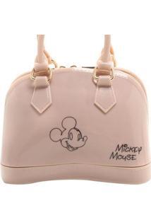 Mini Bolsa Mickey Feminina - Feminino-Nude