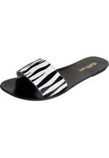 Rasteira Dafiti Shoes Zebra