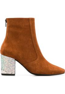 Toga Pulla Two-Tone Ankle Boots - Marrom
