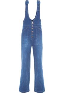 Macação Feminino Jeans Soho - Azul