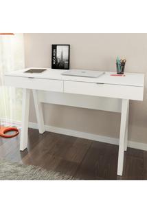 Mesa Para Escritório 2 Gavetas Branco Me4128 - Tecno Mobili
