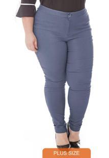 Calca Bengaline Básica Azul Jeans