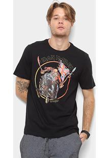 Camiseta Cavalera Estampa Iron Maiden Masculina - Masculino