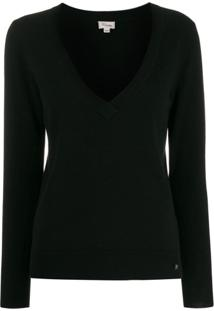 Temperley London Blusa Decote V Profundo - Preto