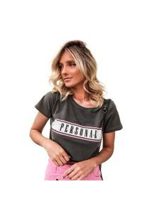 Blusa In Love T-Shirt Nada Pessoal Chumbo