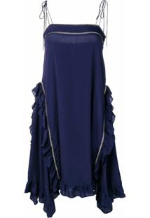 See By Chloé Frill Trim Cami Dress - Azul