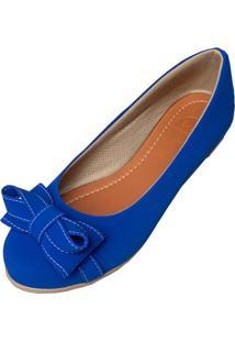 Sapatilha Likka Calã§Ados Bico Redondo Azul Royal - Azul - Feminino - Sintã©Tico - Dafiti