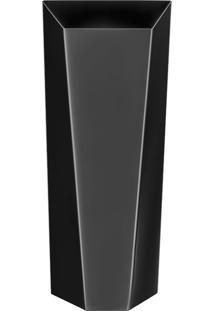Vaso Origami Black Níquel - Riva