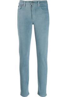 Polo Ralph Lauren Logo Print Skinny Jeans - Azul