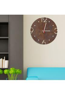 Relógio De Parede Decorativo Premium Corten Com Números Vazados Médio