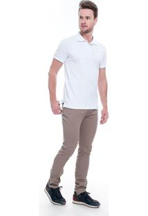 Calça Sarja Lemier Jeans Collection Slim Fit Color Caqui