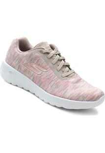 Tênis Skechers Mesclado Go Walk Joy Feminino - Feminino-Coral