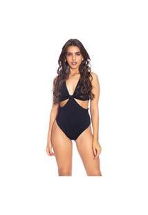 Body Moda Vicio Com Recorte Na Barriga E Detalhe Frente Preto