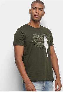 Camiseta Colcci Go Surf Or Go Home Masculina - Masculino-Verde