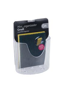Mini Organizador Com Ventosa Glass 10,4 X 5,6 X 9 Cm Cristal Coza