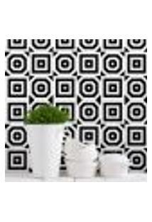 Adesivo Para Azulejo Regular Preto E Branco 20X20 24Un