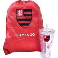 f762fde2e0 Kit Copo Com Canudo 550Ml+Mochila Tipo Saco Flamengo - Unissex Netshoes